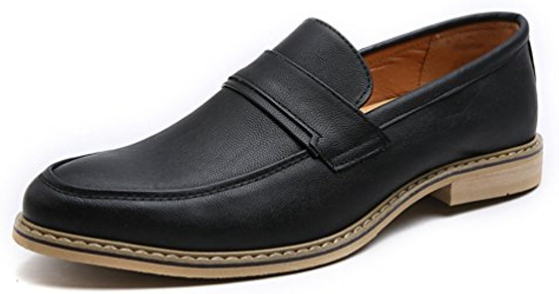 Hombres Vestido Mocasines Negocios Oxfords Zapatos Hechos a Mano Estilo Italiano Hombres Pisos para Fiesta