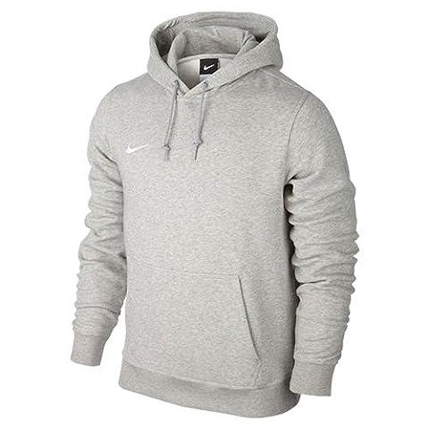 Nike Herren Kapuzenpullover Team Club, grey/white, L,