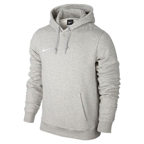 Nike Herren Kapuzenpullover Team Club, Grau (Grey Heather/White), M (Kapuze Hals Kordelzug)
