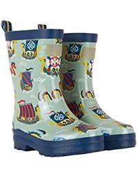 Hatley Boys' Printed Rain Wellington Boots, Vikings, 12 Child UK 30 EU