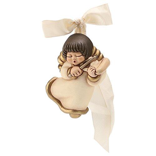 Thun angelo da parete con violino ceramica 10 cm h