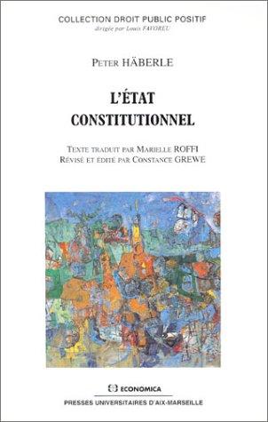 L'Etat constitutionnel
