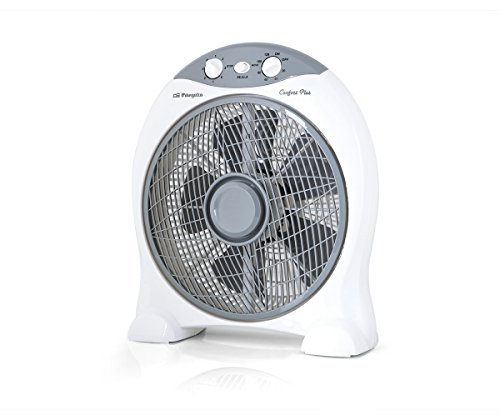 Orbegozo BF 0137 - Ventilador Box Fan con función oscilante, rejilla rotativa,...