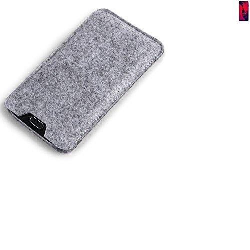 K-S-Trade Filz Schutz Hülle für Huawei P20 Pro Dual-SIM Schutzhülle Filztasche Filz Tasche Case Sleeve Handyhülle Filzhülle grau