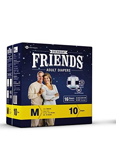 Friends Overnight Medium 10's Pack