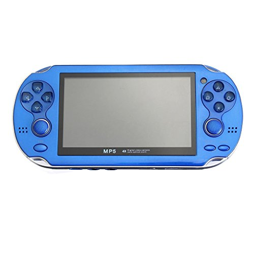 """Price comparison product image Portable 8GB Handheld PSP Game Console Player Built-in 2000 Games+Charger 4.3"""" BLUE"""