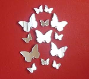 Butterfly Big Wings Mirrors Bundle Twelve Mirrors Six x 5cm & Six x 3cm