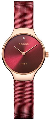 Bering Damenuhr Limitierte Sonderedition rot rosé 13326-CHARITY