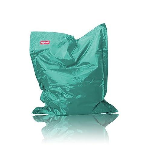 ROOMOX Original Junior Kinder-Sitzsack für drinnen und draußen Stoff 130 x 100 x 30 cm, Aquagrün/Türkis