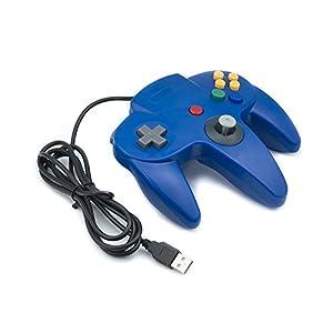 QUMOX Nintendo 64 N64 classic Games GamePad Controller für USB zu PC/MAC Blau
