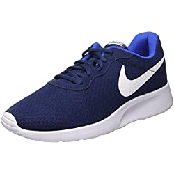 Nike Tanjun, Zapatillas Hombre, Azul Marino/Blanco/Azul (Midnight Navy/White-Game Royal), 43 EU