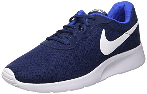 Nike Herren Tanjun Turnschuhe, Blau (Midnight Navy Blau/Weiß/Game Royal Blau), 40 EU (Schuhe Midnight Navy)