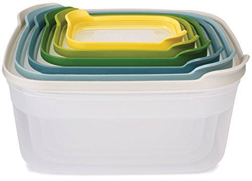 Joseph Joseph Nest Compact Storage Containers, Opal - Multi-Colour, 6 Piece Set
