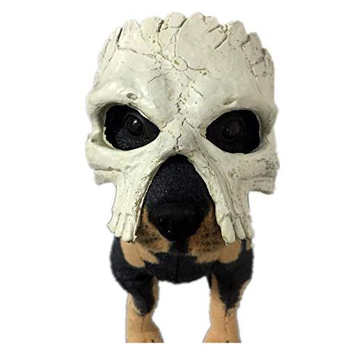 Hunde Beängstigend Kostüm - VAWAA Hund Maske Halloween Beängstigend Schädel Masken Haustier Kostüme Horror Streich Lustige Zubehör Big Dog Schal
