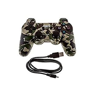 Manette Bluetooth Urban Camouflage PS3 Cable de charge fourni