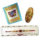 Paper Plane Design Rakhi Gift On Rakshabandhan Combo Of Rakhi Moli Chawal Misri Etc.