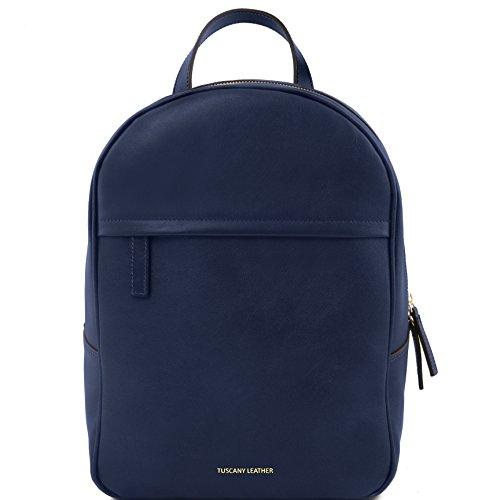 81416044 - TUSCANY LEATHER: TL BAG - Sac à dos pour femme en cuir, Bleu foncé