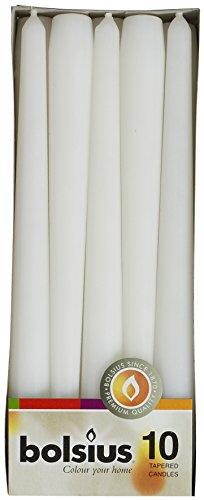 bolsius-lot-de-10bougies-longues-blanc