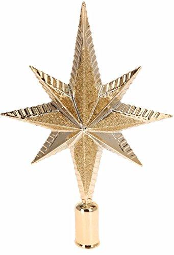 Puntale A Stella Per Albero Di Natale.Puntale Per Albero Di Natale Oro Oro Stella Decorazione Cima Ornamenti