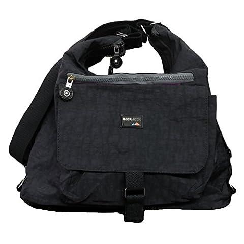 Unisex Lightweight Multi Pocket Large Fabric Convertible Handbag Shoulderbag Travel Backpack