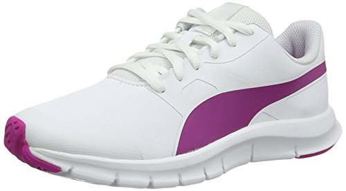 Puma Flexracer Sl, Baskets Basses Sport Unisexes - Blanc Adulte (puma White-ultra Magenta 09)