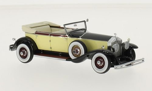 rolls-royce-phantom-i-newmarket-gelb-schwarz-1929-massstab-143-resine-fertigmodell-neo