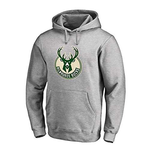 ks Männer Hoodie Antetokounmpo Jugend Männer Pullover Mode Basketball Sport Sweatshirt Tops Fans Sportbekleidung,Grey-S ()
