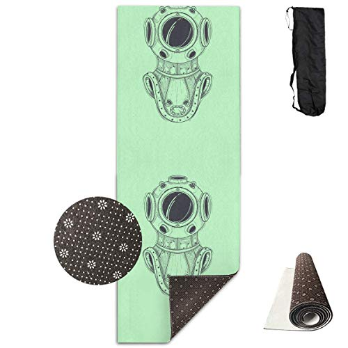 Bag shrot Yoga Mat Non Slip Submersible Suit 24 X 71 Inches Premium Fitness Exercise Pilates Carrying Strap - Pro-lite Cap