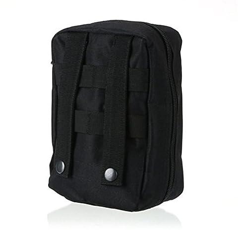 Qearly Compact Nylon Molle Erste Hilfe Tasch Erste Hilfe Kit-Schwarz
