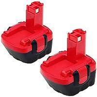 2 Paquetes Eagglew 12V 3.0Ah Ni-MH Batería de repuesto para Bosch BAT043 BAT045 26073 35249 PSR12 PSR12VE-2 PSB12VE-2 GSR12-1 BAT046 BAT049 BAT120 BAT139