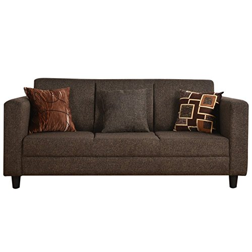 Furny Calista Three Seater Sofa (Coffee Brown)