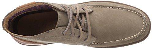 Sebago Men's Ryde Chukka Boot, Dark Taupe Nubuck/Tan Leather, 10 M US Dark Taupe Nubuck/Tan Leather