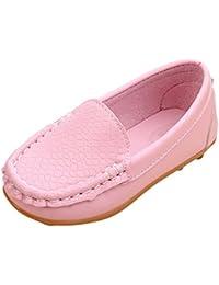 6527d3e1809 Chic-Chic Chaussure Bateau Mocassin Enfant Loisirs Confort Chaussures Fille  Garçon Plates en Cuir Oxford
