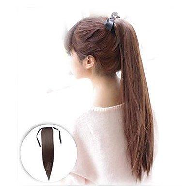 HJL-falsche Haar gerade Tunnelzug Pferdeschwanz Perücke Clip beständig Haar Schwanz natürliche Kostüm langen Pferdeschwanz Erweiterung (Mehrere Menschen Kostüm)