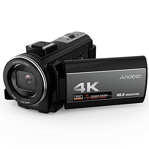Andoer videocamera 4k digitale video camera hdv-214k 16x zoom digitale schermo lcd 3.0 24mp visione notturna con una batteria ricaricabile 2500mah