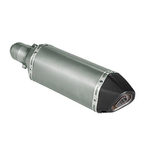 KKmoon Silenciador Tubo Escape 38-51mm Small Hexagon