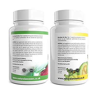 Raspberry Plus & Garcinia + Clean Formula 180 Vegetarian Capsules 3 Month Supply UK Manufactured from Natural Answers