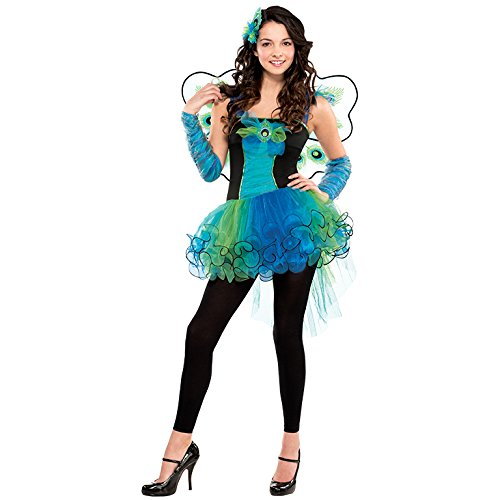 M Teen Peacock Diva Costume for Bird Fancy Dress Outfit by ()