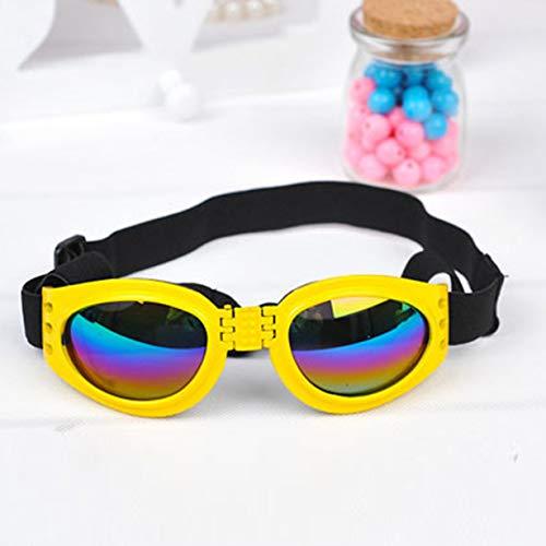 Comomingo Faltbare Kunststoff Hund Sonnenbrille schützen vor Wind Brille Heimtierbedarf