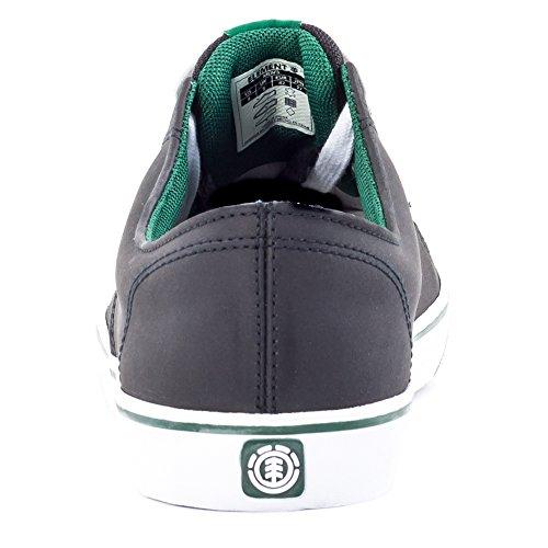Element Topaz C3, Herren Skateboardschuhe Black Green