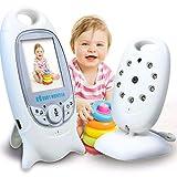 BABY MONITOR ZLMI Tragbares Display für Babyphone Zwei-Wege-Sprechanlage Integriertes 8-Schlaflied ohne Interferenz Temperaturüberwachung Anwendungsbereich 15-200 Meter