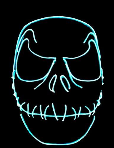 ett Genähter Mund nachtleuchtend (Jack Skelett Maske)