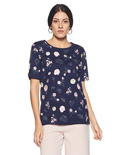 Flying Machine Women's Animal Print Regular Fit T-Shirt