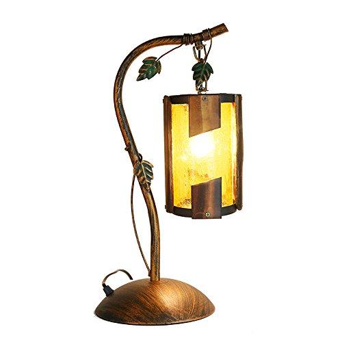 Stil Land Cafe Tischlampe Schreibtischlampe Themed Esszimmer Desktop Licht Studie Bambus Kreative Dekoration Öl Eisen Kunst Leselampe ()