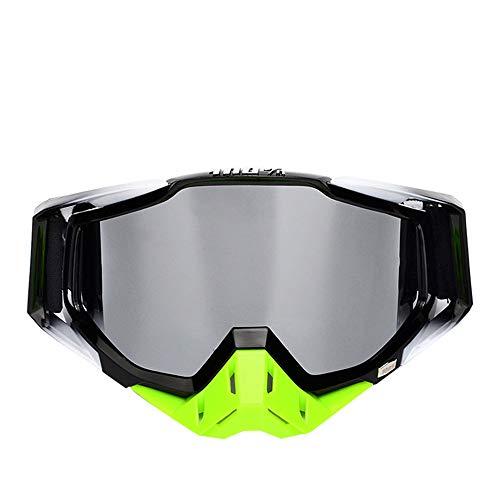 Offroad-Motorradbrille mit winddichtem Außenspiegel und staubdichter Schutzbrille (siehe Abbildung)