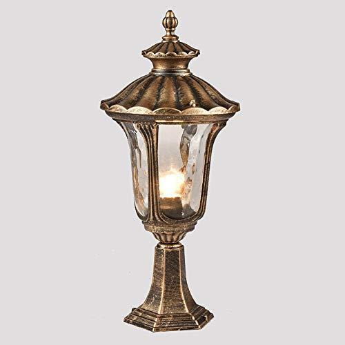 Wylolik Retro Outdoor Säule Licht Rasen Beleuchtung Post Licht Pier Veranda Zaun Lampe Öl reiben Bronze Finish 17