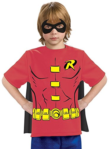 Justice League Child's Robin 100% Cotton T-Shirt - Large by Rubie's