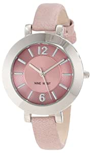 Nine West Women's Quartz Watch with Pink Dial Analogue Display and Pink PU Strap NW1319LPLP