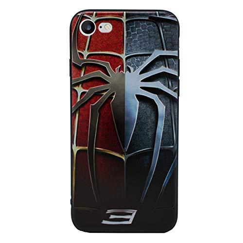 iPhone 5/5s 3D Marvel Silikonhülle / Gel Hülle für Apple iPhone 5s 5 SE / Schirm-Schutz und Tuch / iCHOOSE / Spiderman 3 (Marvel Handy-fall Iphone 5)