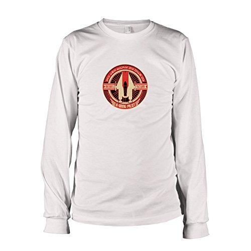 TEXLAB - SW: A-Wing Rebel Pilot - Herren Langarm T-Shirt, Größe XXL, weiß